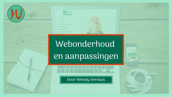 Webonderhoud en aanpassingen product afbeelding