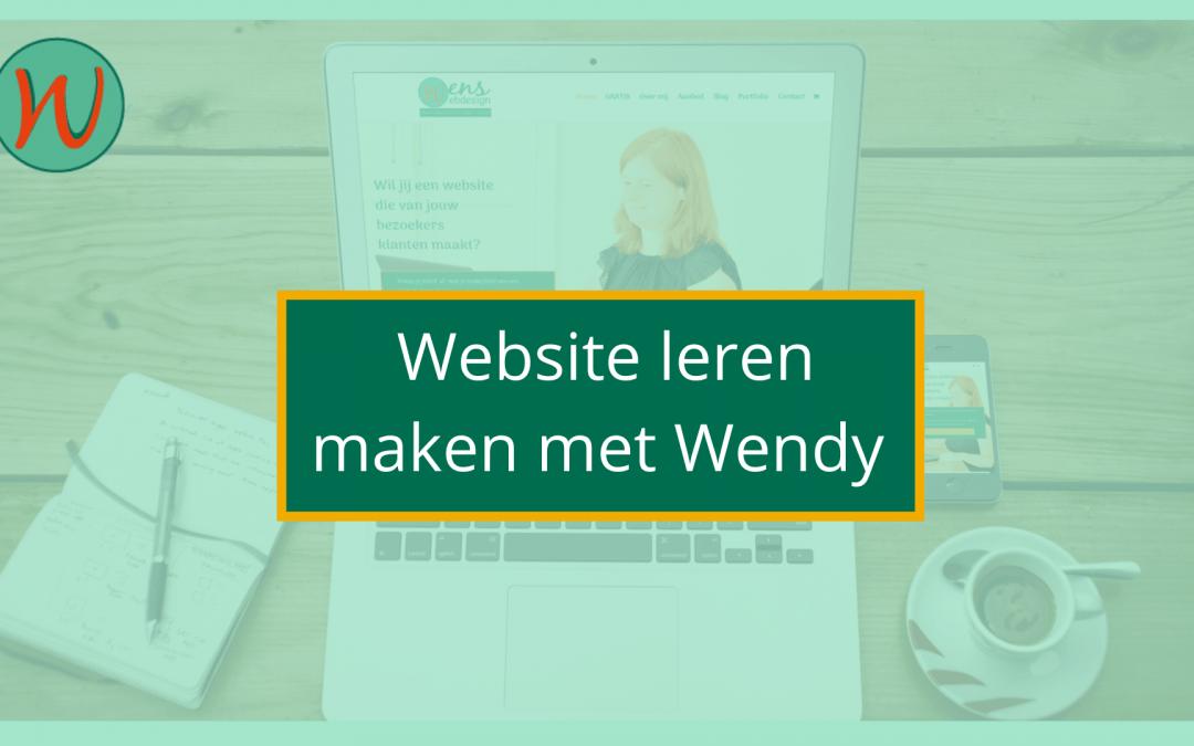 website leren maken met wendy